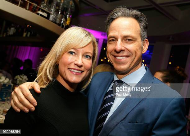 Jennifer Tapper and Jake Tapper attend the United Talent Agency White House Correspondence Dinner PreParty at Fiola Mare on April 27 2018 in...