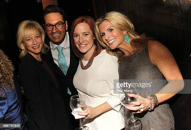Jennifer Tapper Marc Adelman Jen Psaki and Adrienne Elrod attend the ELLE and HUGO BOSS Women in Washington Power List Dinner at The Residence of the...