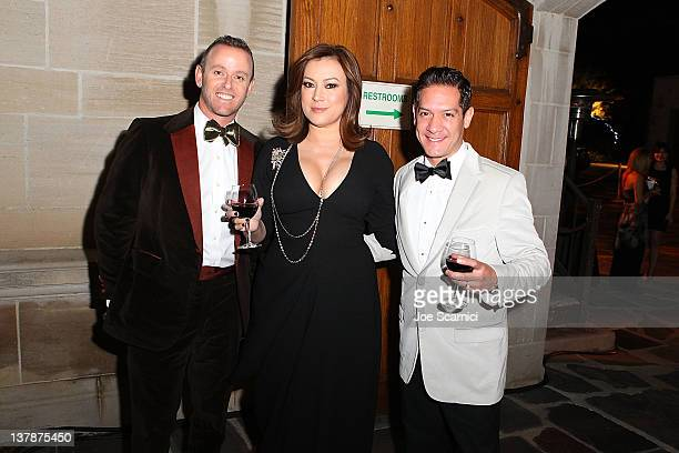 Jennifer Tilly and guest attend Moet Hennessy hosts The Ball Of Artists at Greystone Mansion on January 28 2012 in Beverly Hills California