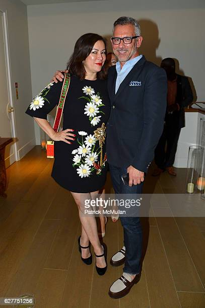 Jennifer Tilly and Lionel Geneste attend Galerie Gmurzynska Sir Norman Rosenthal and Claude RuizPicasso Dinner at Art Basel Miami Beach 2016 at Faena...
