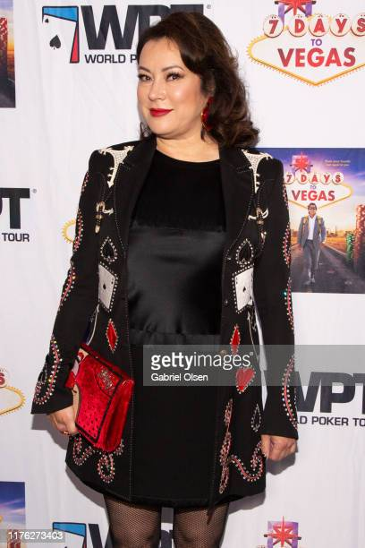 Jennifer Tilly arrives for the LA Premiere Of 7 Days To Vegas at Laemmle Music Hall on September 21 2019 in Beverly Hills California