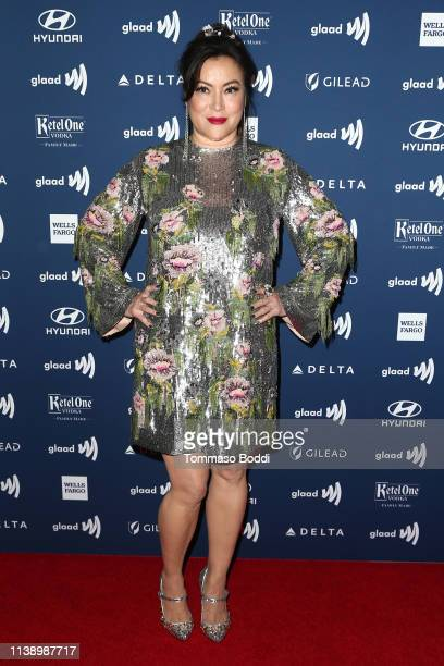 Jennifer Tilly attends the 30th Annual GLAAD Media Awards at The Beverly Hilton Hotel on March 28 2019 in Beverly Hills California