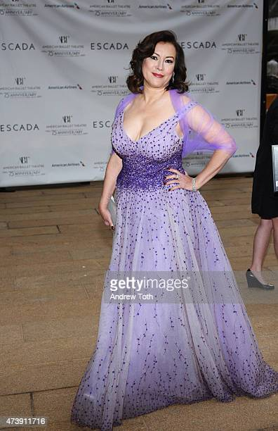 Jennifer Tilly attends the American Ballet Theatre's 75th Anniversary Diamond Jubilee Spring Gala at The Metropolitan Opera House on May 18 2015 in...