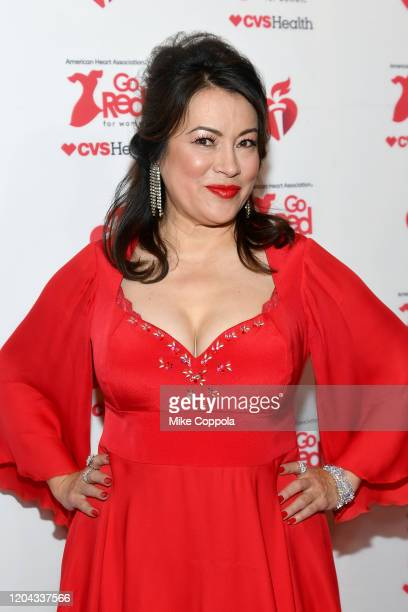 Jennifer Tilly attends The American Heart Association's Go Red for Women Red Dress Collection 2020 at Hammerstein Ballroom on February 05 2020 in New...