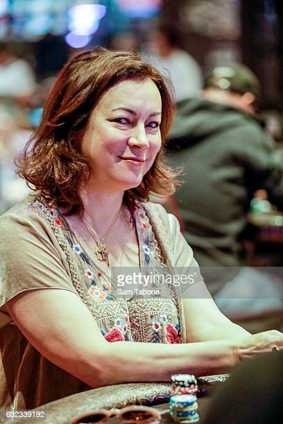 Jennifer Tilly attends the Aussie Millions Poker Championship at Crown Casino on January 22 2017 in Melbourne Australia