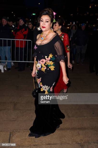 Jennifer Tilly attends the Dolce Gabbana Alta Moda 2018 collection at the Metropolitan Opera House at Lincoln Center on April 8 2018 in New York City