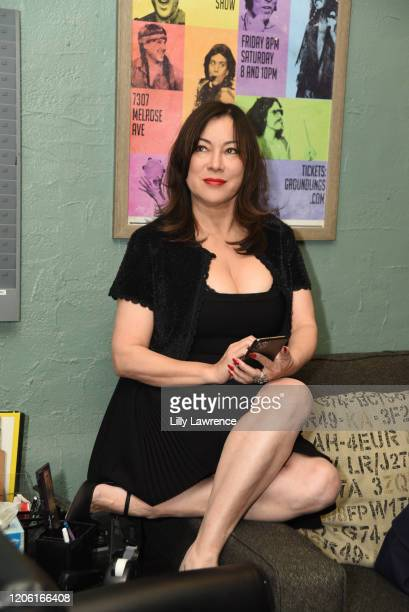 Jennifer Tilly attends The Groundlings Theatre In LA Hosts Celebrity Autobiography at The Groundlings Theatre on February 11 2020 in Los Angeles...