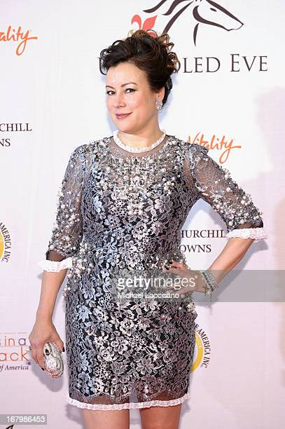 Jennifer Tilly attends the Unbridled Eve Gala for the 139th Kentucky Derby at The Galt House Hotel Suites' Grand Ballroom on May 3 2013 in Louisville...