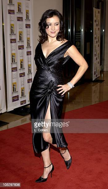 Jennifer Tilly during 2003 Hollywood Awards Gala Ceremony Red Carpet at Beverly Hilton Hotel in Beverly Hills California United States
