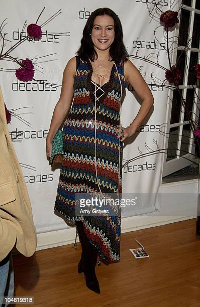 Jennifer Tilly during Decades Presents Live the Fantasy Kaisik Wong Retrospective at Decades in Los Angeles California United States