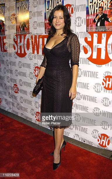 Jennifer Tilly during Opening Night of Mario Cantone Laugh Whore Presented on Broadway by Showtime Arrivals at The Cort Theatre in New York City New...