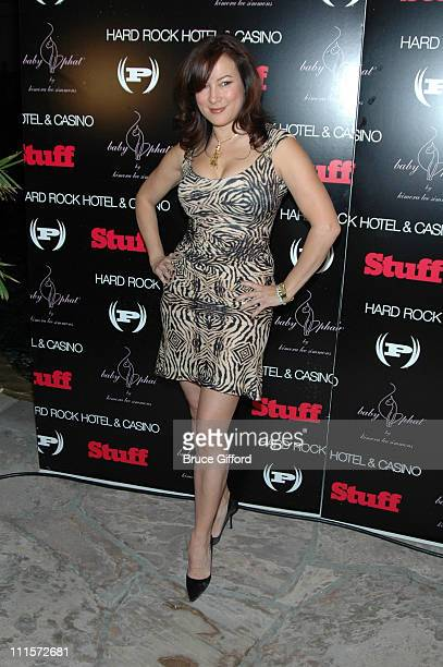 Jennifer Tilly during Phat Farm Baby Phat and Stuff Magazine Rock 'N Roll into Hard Rock Hotel and Casino for its' Music Issue Weekend at Hard Rock...