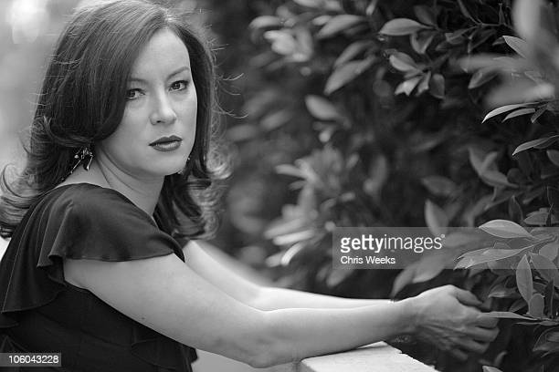 Jennifer Tilly during Portrait Shoot with Jennifer Tilly - Black & White Photography by Chris Weeks at Luxe Hotel Sunset Boulevard in Brentwood,...