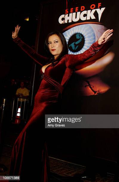 Jennifer Tilly during 'Seed of Chucky' Los Angeles Premiere Red Carpet at The Grove in Los Angeles California United States