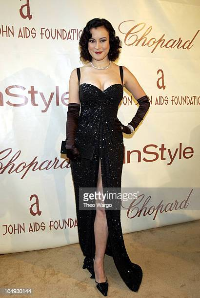 Jennifer Tilly during The 10th Annual Elton John AIDS Foundation InStyle Party Arrivals at Moomba Restaurant in Hollywood California United States