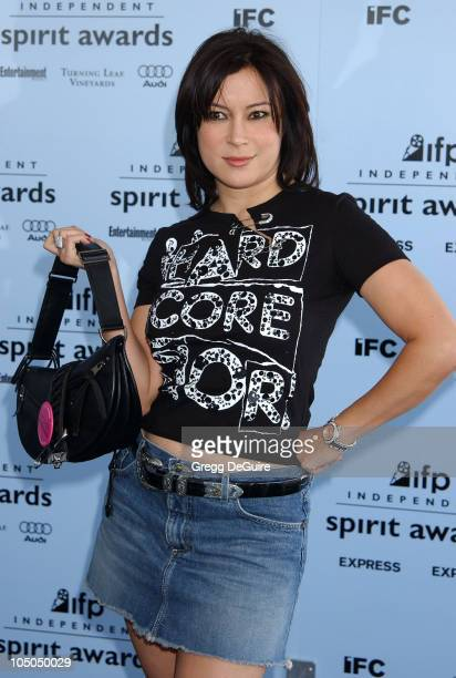 Jennifer Tilly during The 18th Annual IFP Independent Spirit Awards Arrivals at Santa Monica Beach in Santa Monica California United States