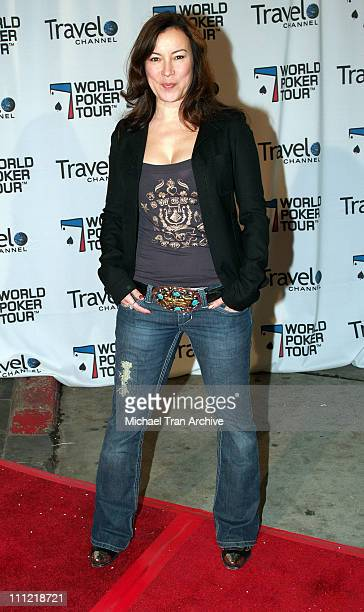 Jennifer Tilly during World Poker Tour Invitational Inside and Arrivals at The Commerce Casino in Los Angeles California United States