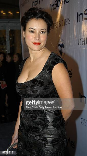 Jennifer Tilly is on hand at Christie's for the Elizabeth Taylor AIDS Foundation Benefit Auction