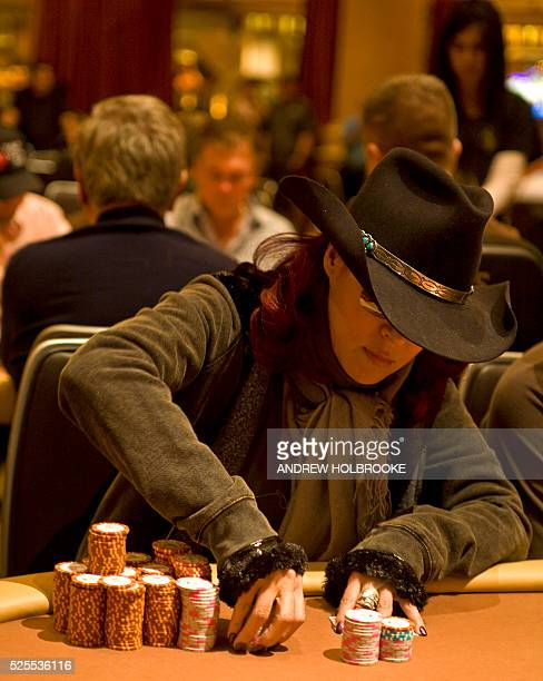 Jennifer Tilly Oscar nominated movie actress competes in the World Poker Tournament for the 14 million dollar first prize at the Bellagio Hotel In...
