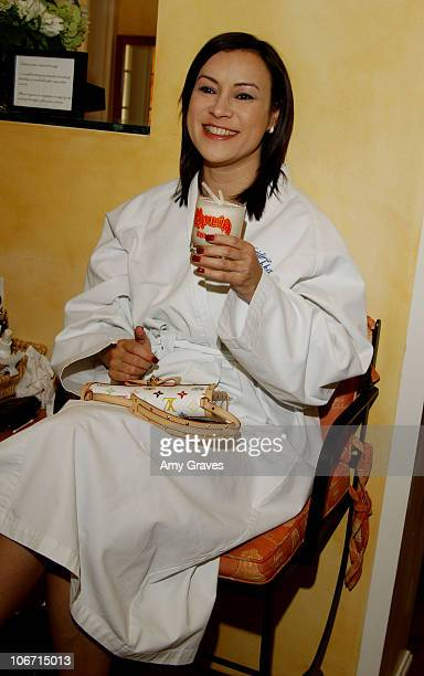 Jennifer Tilly with a Kahlua Mudslide during Frederic Fekkai Oscar Beauty And Fashion Suite Day 3 at Frederic Fekkai in Beverly Hills California...