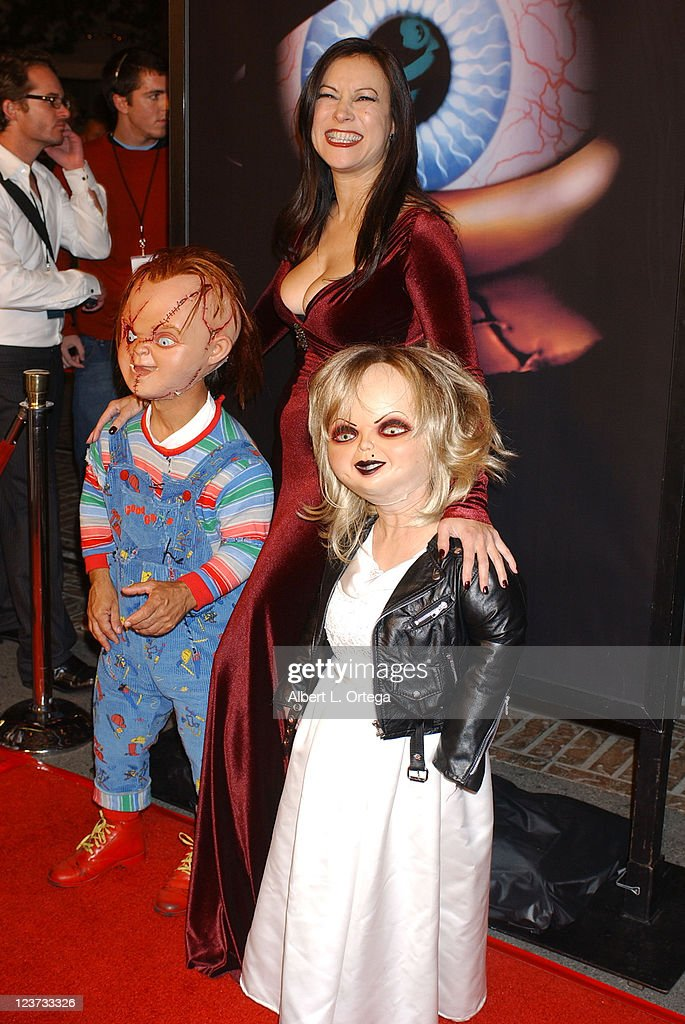 jennifer tilly with chucky and tiffany news photo getty images