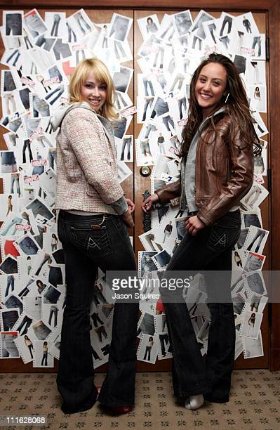 Jennifer Tisdale and Lauren Mayhew wearing 7 for all mankind Jeans