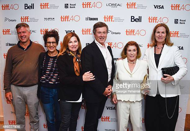 Jennifer Tory Liz Tory Mayor John Tory Barbara Hackett and Mike Tory attend the Mr Right premiere during the Toronto International Film Festival at...