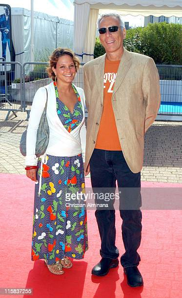 Jennifer Tuft and Marc Levin director during 31st American Film Festival of Deauville Protocols of Zion Photocall Arrivals at CID in Deauville France