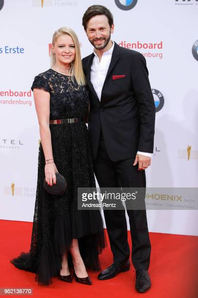 Jennifer Ulrich and guest attend the Lola German Film Award red carpet at Messe Berlin on April 27 2018 in Berlin Germany
