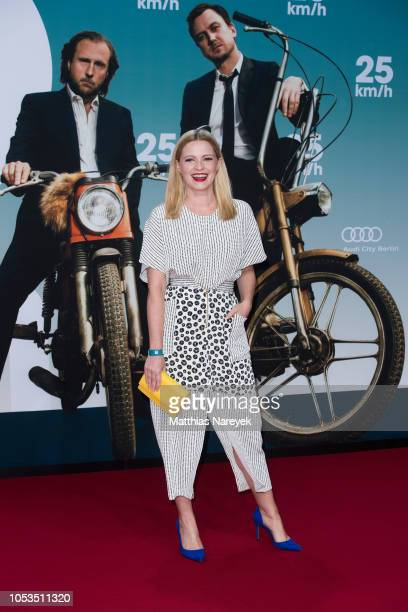 Jennifer Ulrich attends the '25 km/h' movie premiere at CineStar on October 25 2018 in Berlin Germany