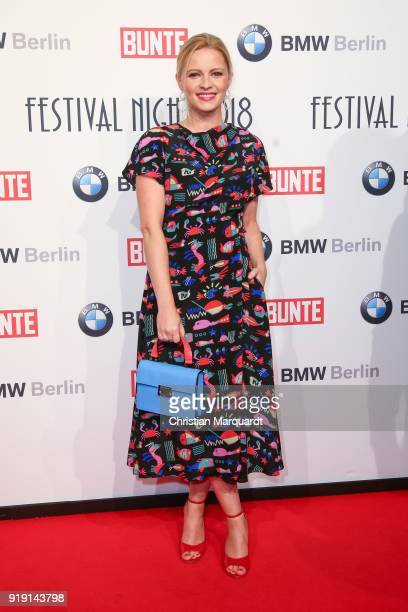 Jennifer Ulrich attends the BUNTE BMW Festival Night on the occasion of the 68th Berlinale International Film Festival Berlin at Restaurant...