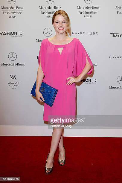 Jennifer Ulrich attends the Laurel show during the MercedesBenz Fashion Week Spring/Summer 2015 at Erika Hess Eisstadion on July 10 2014 in Berlin...