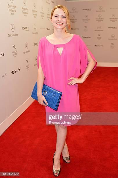 Jennifer Ulrich attends the Laurel show during the MercedesBenz Fashion Week Spring/Summer 2015 at Erika Hess Eisstadion on July 10 2014 in Berlin...