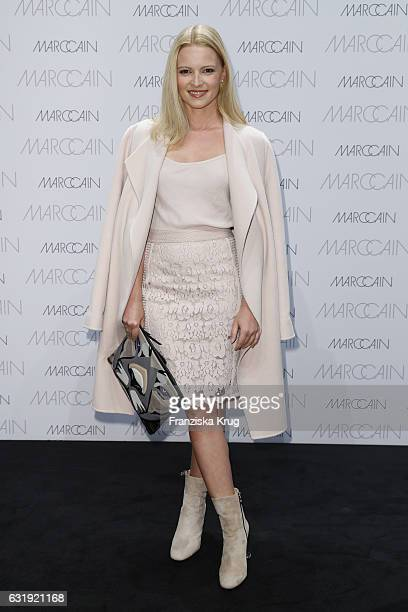 Jennifer Ulrich attends the Marc Cain fashion show A/W 2017 at Deutsche Telekom representation on January 17 2017 in Berlin Germany