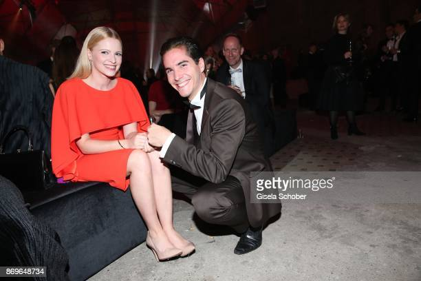 Jennifer Ulrich Francois Goeske during the 'When the Ordinary becomes Precious #CartierParty Berlin' at Old Power Station on November 2 2017 in...