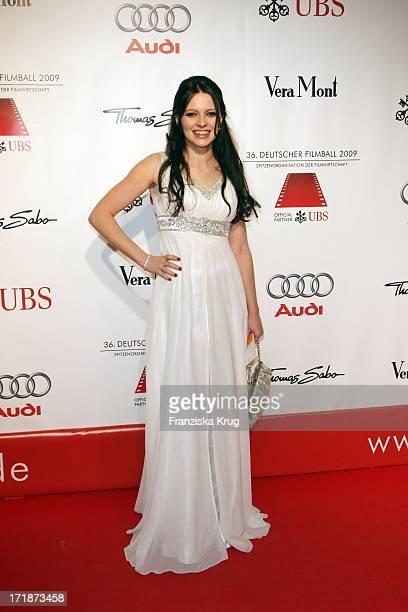 Jennifer Ulrich On Arrival to 36th German Film Ball at Hotel Bayerischer Hof in Munich