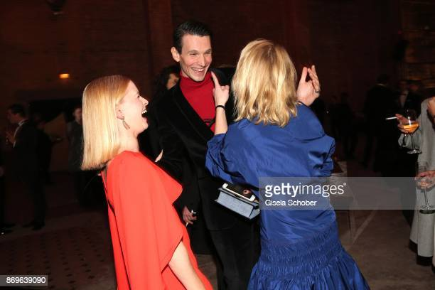 Jennifer Ulrich Sabin Tambrea and Anna Maria Muehe during the 'When the Ordinary becomes Precious #CartierParty Berlin' at Old Power Station on...