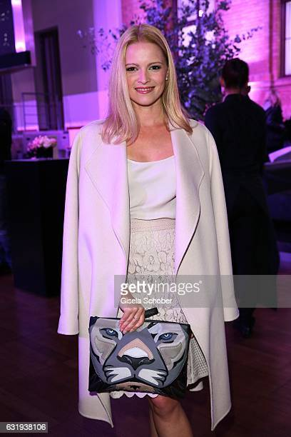 Jennifer Ulrich wearing an outfit by Marc Cain during the Marc Cain fashion show fall/winter 2017 'Ballet magnifique' at 'Telekom Representation' on...