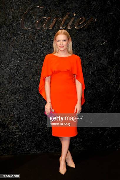 Jennifer Ulrich wearing Panthere Earrings and a Love Bracelet attends the When the Ordinary becomes Precious #CartierParty at Old Power Station on...