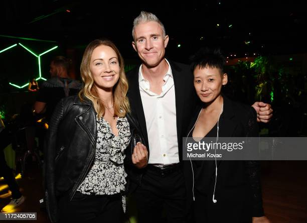 Jennifer Utley Chase Utley and Michelle Cho attend the Los Angeles Premiere of The Game Changers Documentary at ArcLight Hollywood on September 04...