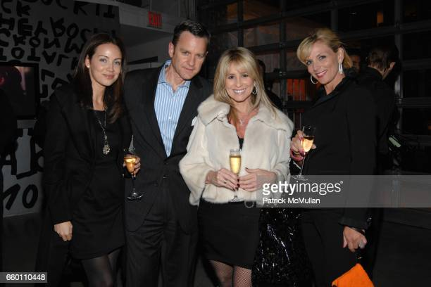 Jennifer Utley Jack Rogers Karen Watkins and Karen Moyer attend LOUIS VUITTON Tribute to STEPHEN SPROUSE Exhibition Preview at Deitch Projects on...