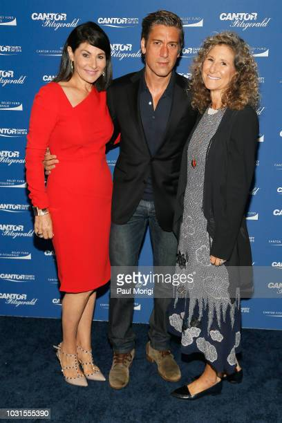 Jennifer Valoppi David Muir and Edie Lutnick attend the Annual Charity Day hosted by Cantor Fitzgerald BGC and GFI at Cantor Fitzgerald on September...