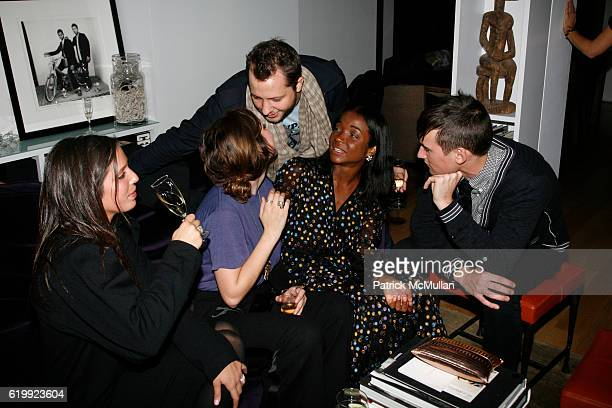 Jennifer Vitagliano Cory Kennedy Derek Blasberg Genevieve Jones and Zac Malone attend CHARLOTTE SARKOZY hosts cocktails in honor of BARBARA BUI at...
