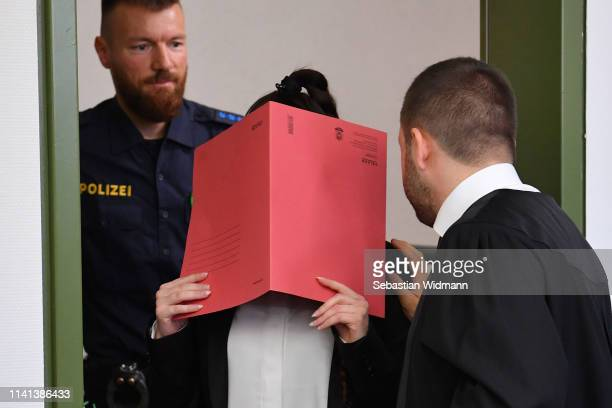 Jennifer W arrives for the first day of her trial at the Oberlandesgericht courthouse on April 9 2019 in Munich Germany Jennifer W a German citizen...