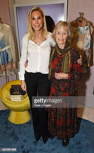 Jennifer Wade and Virginia McKenna attend a fundraising party hosted by John Cleese and Jennifer Wade in aid of the Born Free Foundation at La Perla...