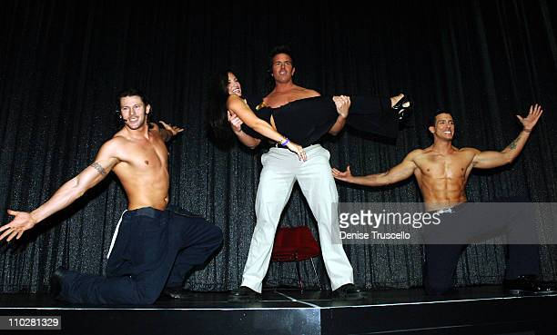 Jennifer Wallen with The Chippendales Dancers during The Apprentice Cast Attends the Chippendales Show at The Rio Hotel and Casino Resort in Las...