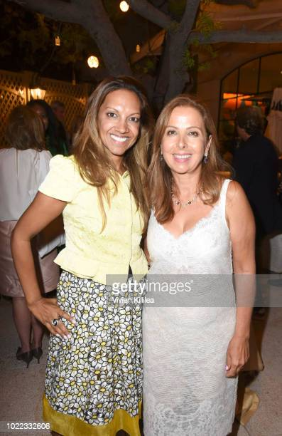 Jennifer Wangers and Karine Ohana attend Ohana Co LA Event Brands With Mission at The Peninsula Beverly Hills on August 23 2018 in Beverly Hills...