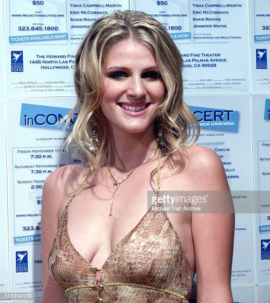 Jennifer Wayne during inConcert to Benefit Project Angel Food Arrivals November 12 2005 at The Howard Fine Theater in Hollywood California United...