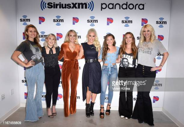 Jennifer Wayne Madison Marlow Carrie Underwood Jenny McCarthy Taylor Dye Naomi Cooke and Hannah Mulholland attend SiriusXM's Town Hall With Carrie...