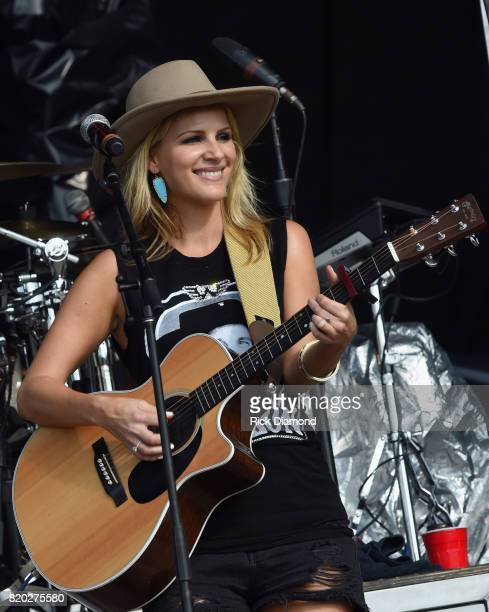 Jennifer Wayne of Country Trio Runaway June performs at Country Thunder In Twin Lakes Wisconsin Day 1 on July 20 2017 in Twin Lakes Wisconsin